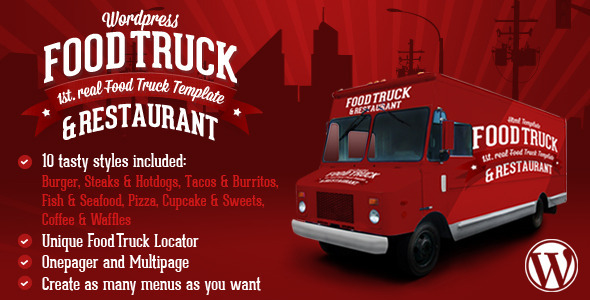Food Truck & Restaurant 10 Styles - WP Theme - Restaurants & Cafes Entertainment