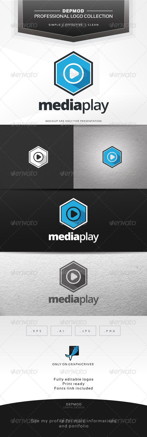 GraphicRiver Media Play V.02 Logo 6979298