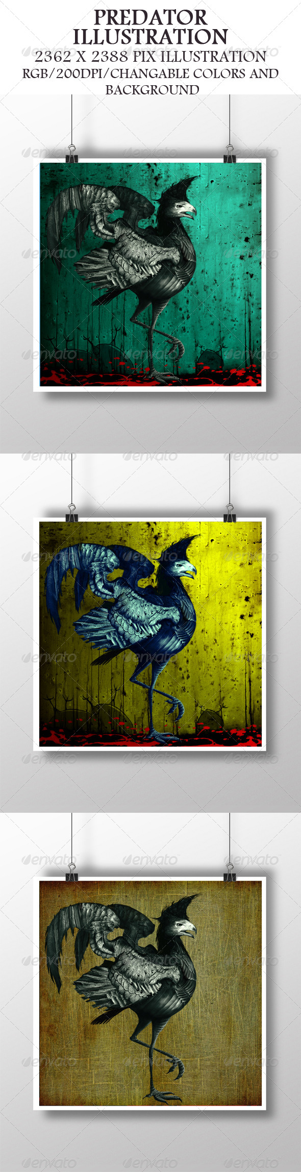 GraphicRiver Predator Illustration 6979351