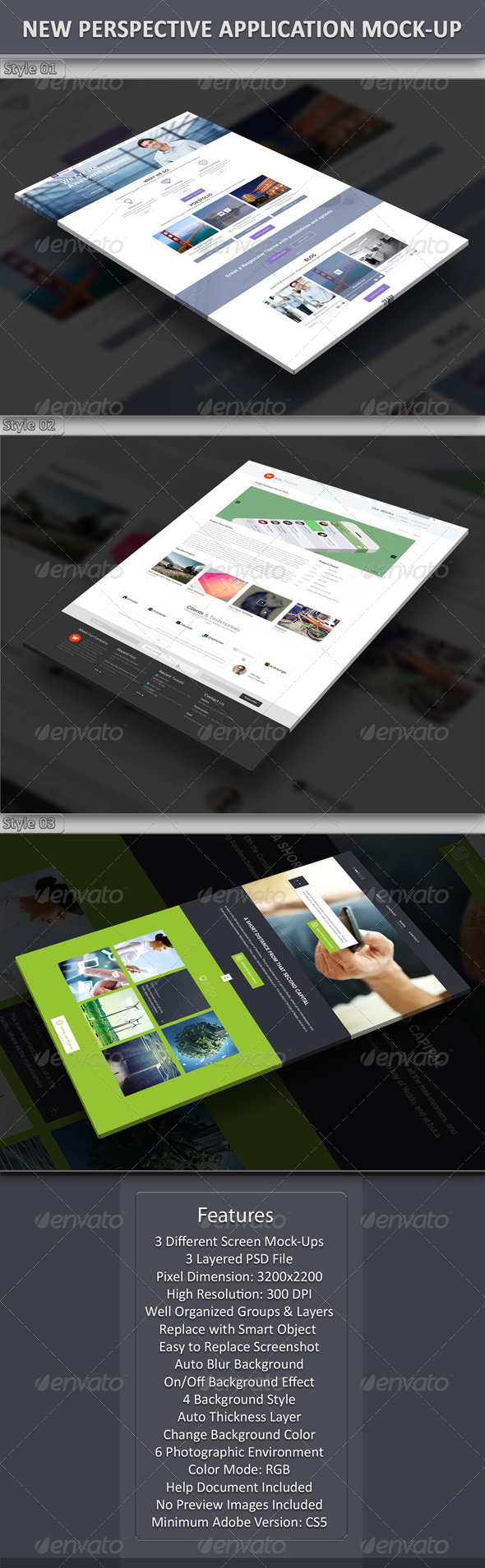GraphicRiver New Perspective Application Mock-Up 6979753