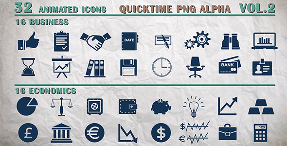 Info Icons Business and Economics