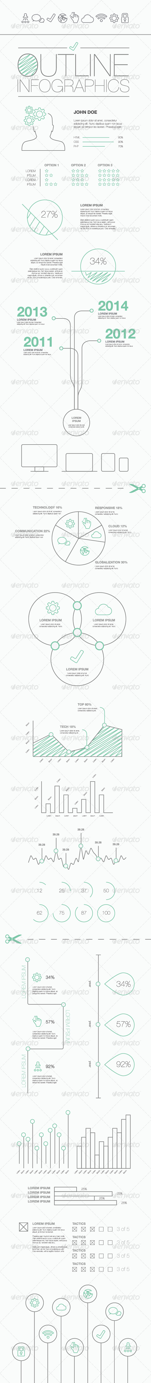 GraphicRiver Outline Infographics Vector Illustration 6965077
