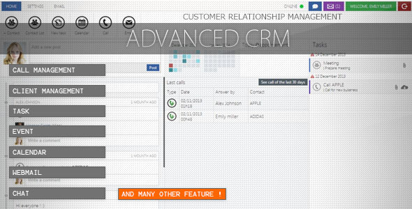 Advanced CRM - CodeCanyon Item for Sale