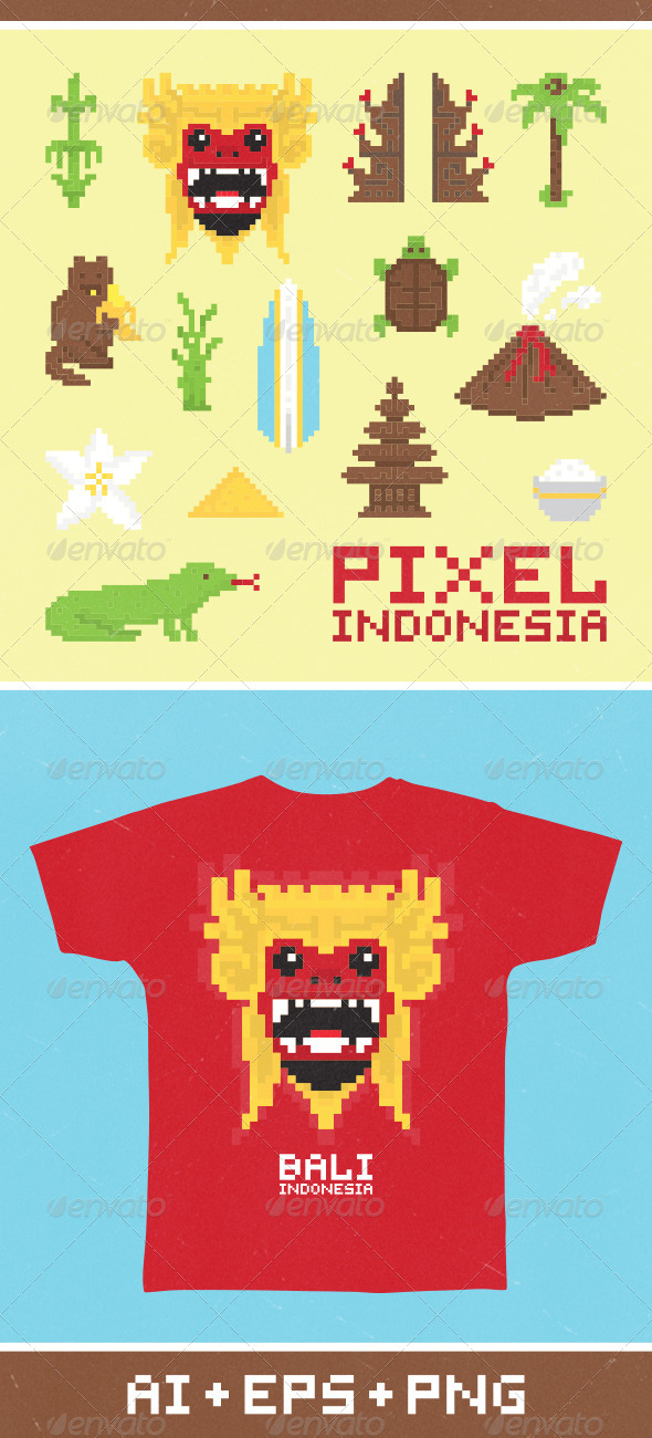 GraphicRiver Pixel Art Indonesia 6980723