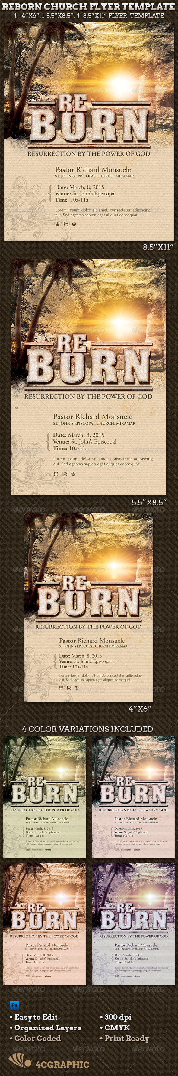 GraphicRiver Reborn Church Flyer Template 6967562