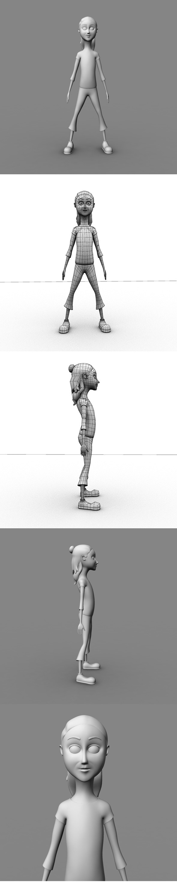 Base Mesh Cartoon Girl