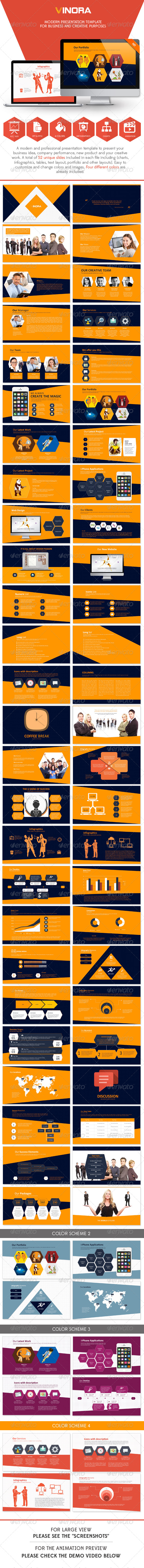 GraphicRiver Vinora Professional Presentation Template 6981122