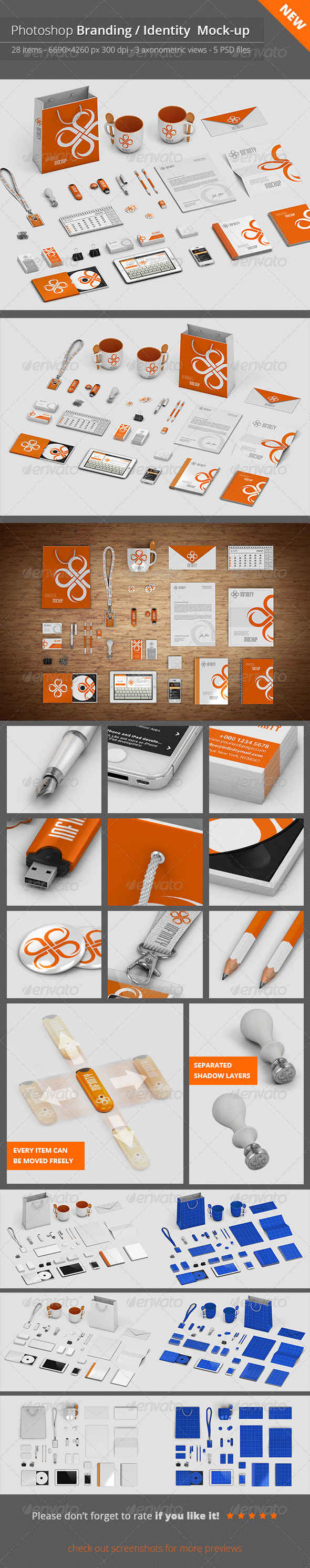 GraphicRiver Stationery Branding Mock-Up V.1 6981119