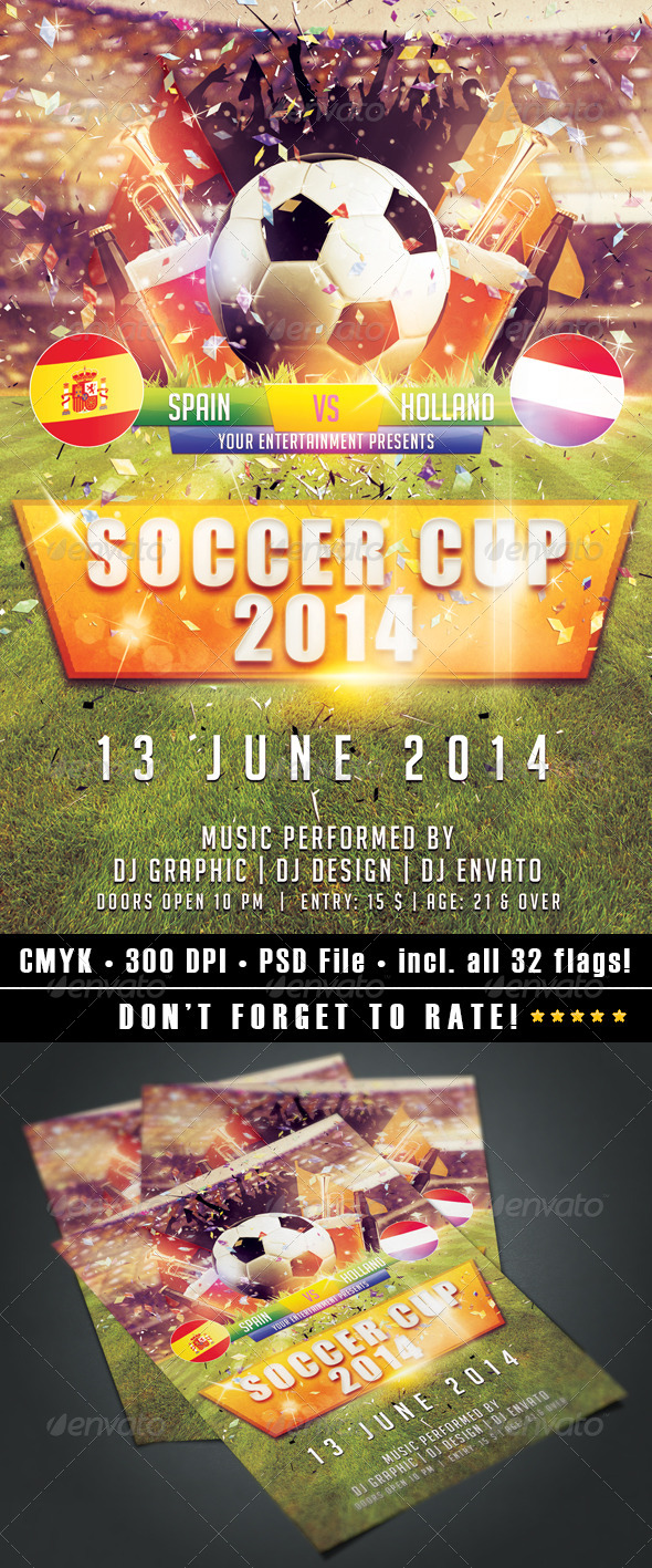 GraphicRiver Soccer Cup 2014 6968053
