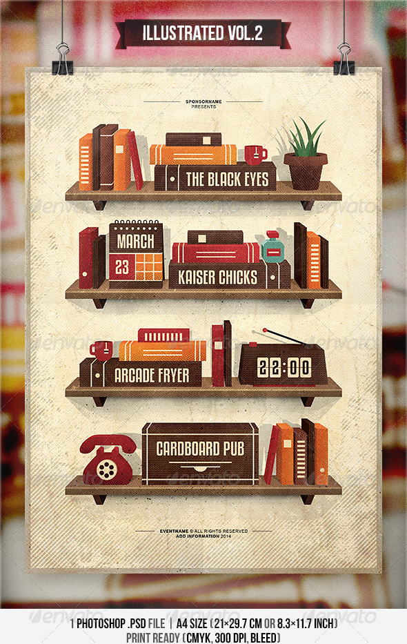 GraphicRiver Illustrated Vol.2 Flyer & Poster 6981227