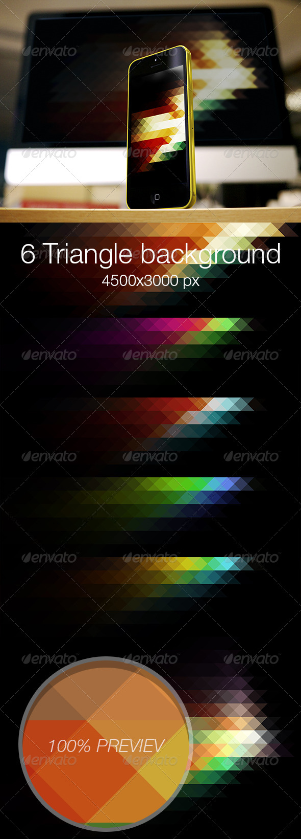 GraphicRiver Triangle colored background vol.3 6981748