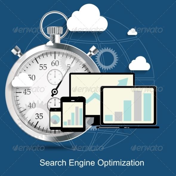 GraphicRiver SEO Search Engine Optimization Flat Icon 6981793