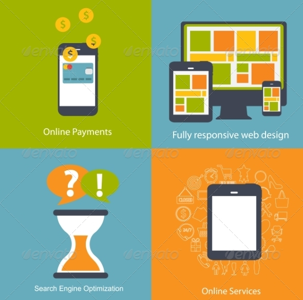 GraphicRiver Modern Flat Icon Set for Web and Mobile Application 6981808