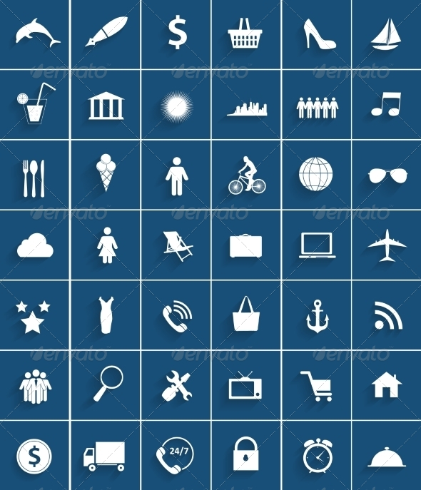 GraphicRiver Set of Flat Icons 6981852