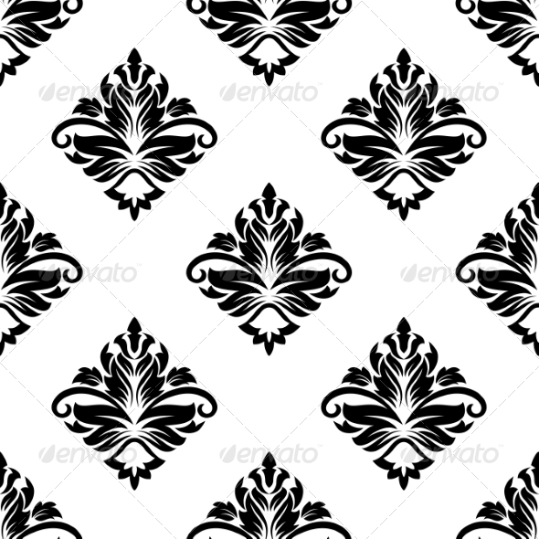 GraphicRiver Geometric Arabesque Pattern with Floral Motif 6981904
