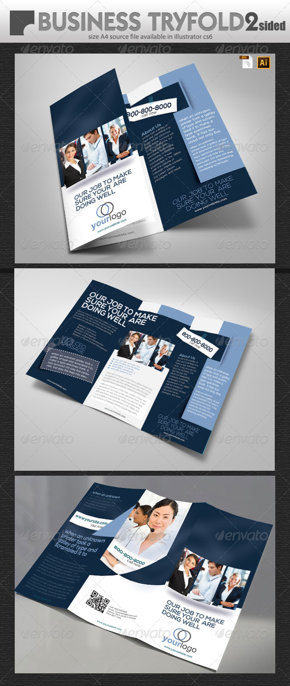 GraphicRiver Try Fold A4 Business Brochure Design 6952087
