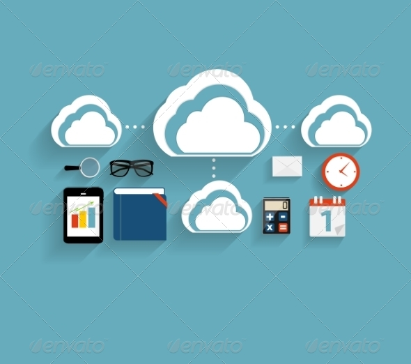 GraphicRiver Cloud Computing Concept with Devices 6981961