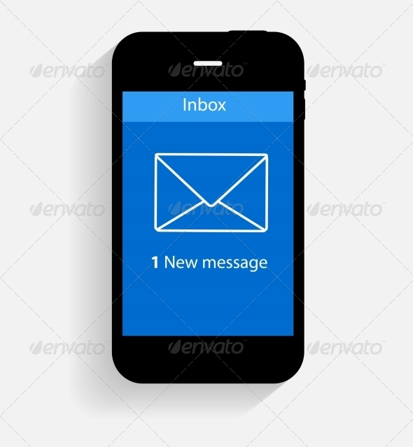 GraphicRiver Inbox Mail Flat Concept Illustration 6981982