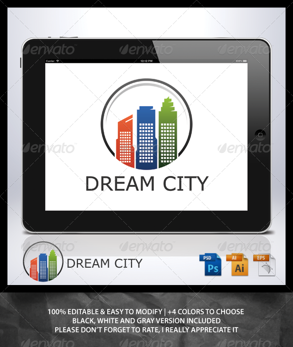 GraphicRiver Dream City Logo 6982066