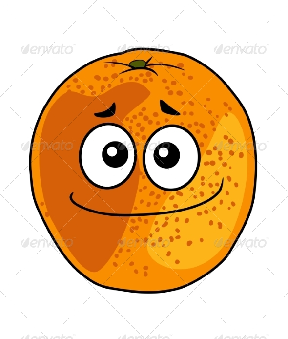 GraphicRiver Juicy Ripe Cartoon Orange with a Cheeky Grin 6982148