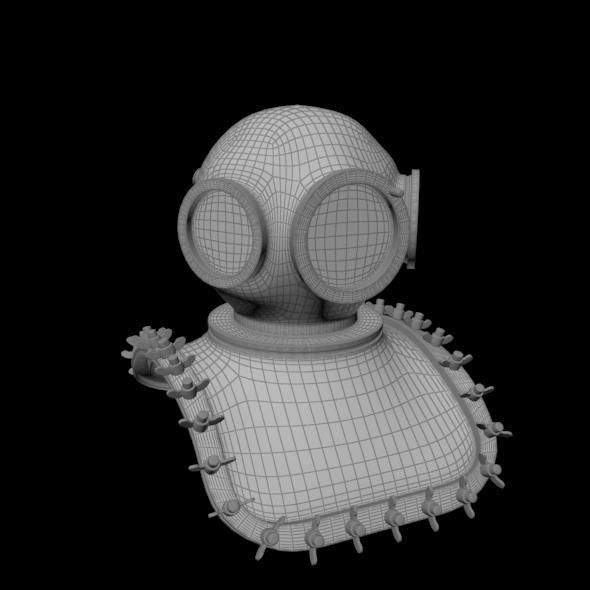 Underwater Helmet - 3DOcean Item for Sale