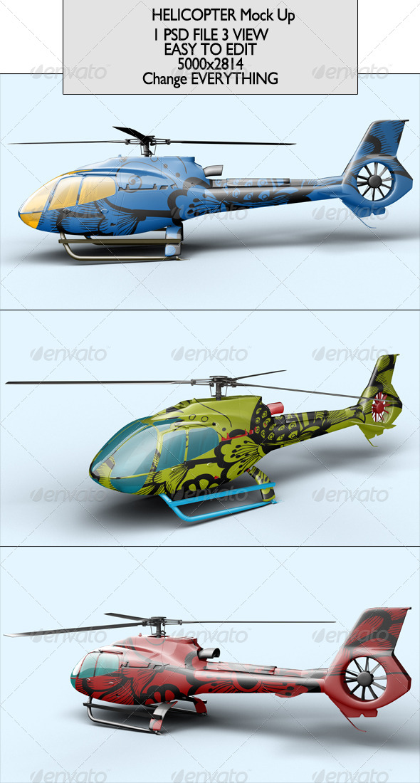 GraphicRiver Helicopter Mock Up 6982216