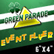 Green Parade: St Patrick's Day - (6x4) Flyer - GraphicRiver Item for Sale
