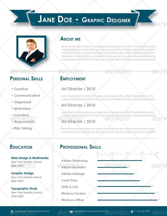 indesign resume template by carlos fernando graphicriver. Black Bedroom Furniture Sets. Home Design Ideas