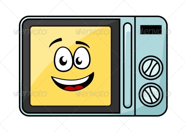 GraphicRiver Cartoon Microwave Oven 6982583