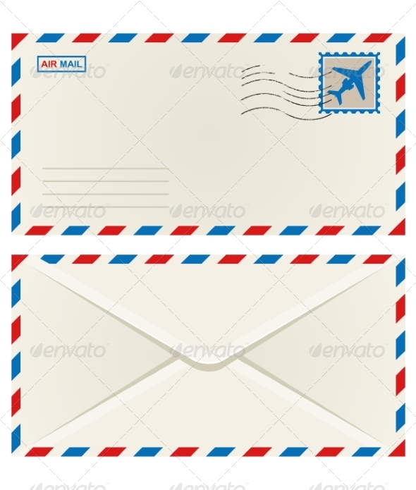 GraphicRiver Front and Back of an Airmail Envelope 6982589