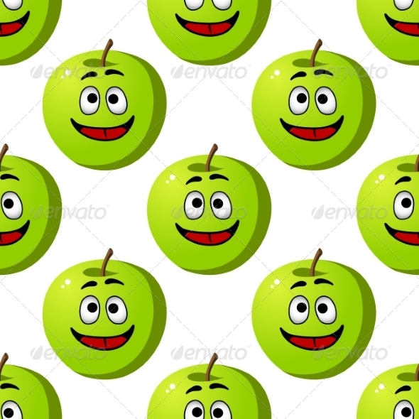 GraphicRiver Happy Apple Seamless Pattern 6982602