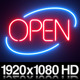 Round Neon Open Sign - VideoHive Item for Sale