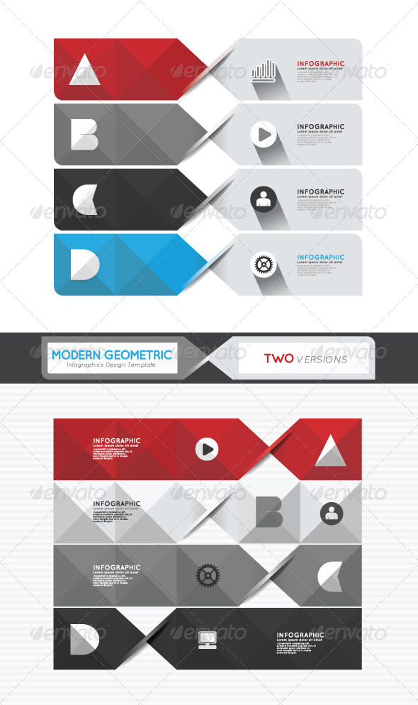 GraphicRiver Modern Geometric Infographics Design Template 6983381
