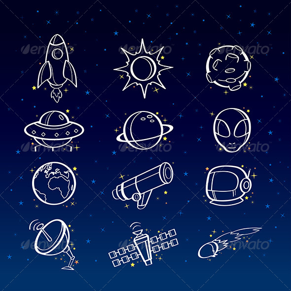 GraphicRiver Astronomy Icons 6983948