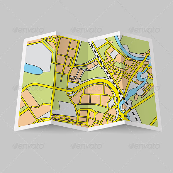 GraphicRiver Map Booklet 6984237