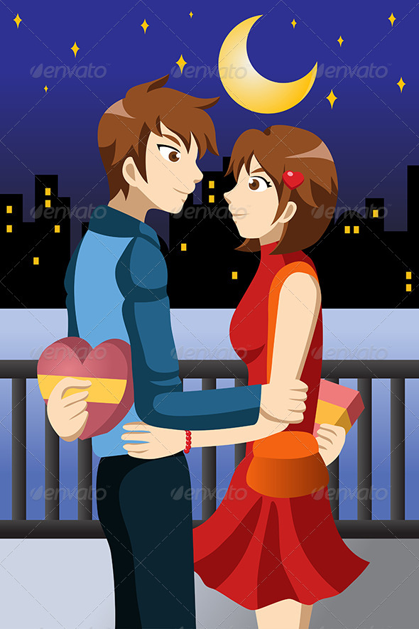 GraphicRiver Young People Celebrating Valentine Day 6984238