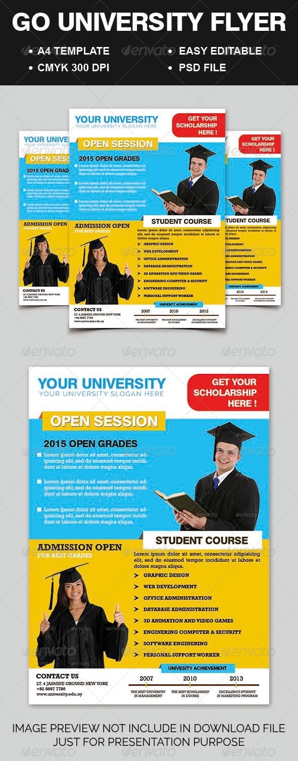 GraphicRiver Go University Flyer 6984288