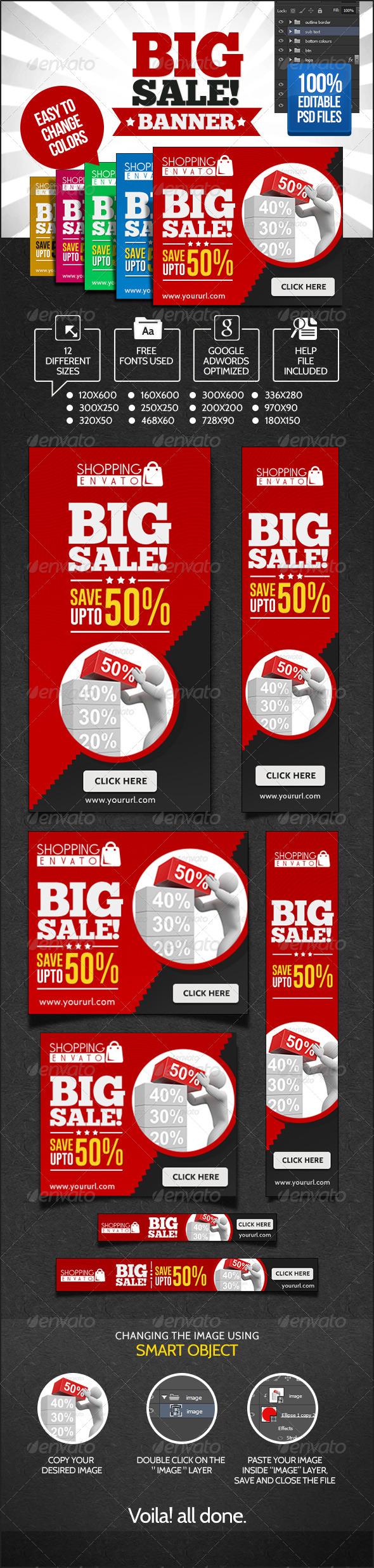 GraphicRiver Big Sales Banner Set 6984289