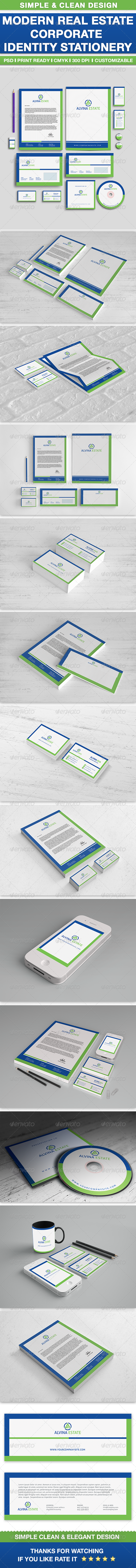 GraphicRiver Real Estate Corporate Identity Set 6963609