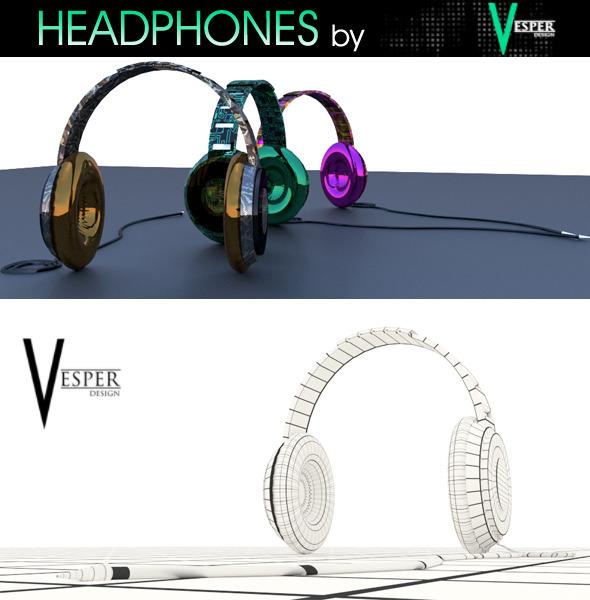 Headphones by Vesper - 3DOcean Item for Sale