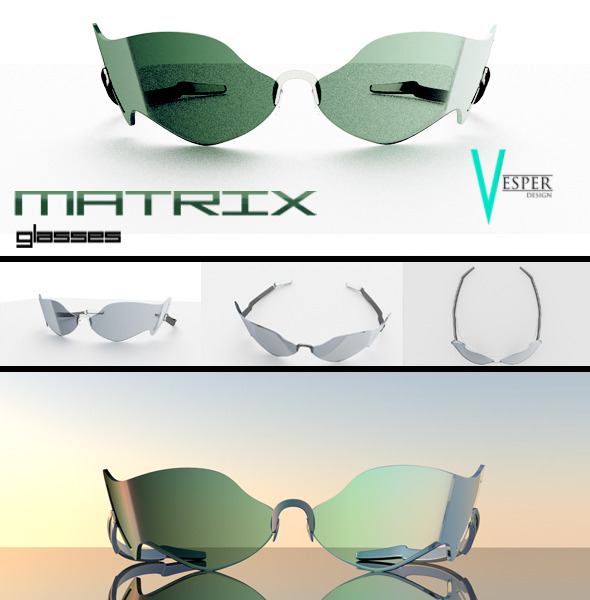 Matrix Glasses - 3DOcean Item for Sale