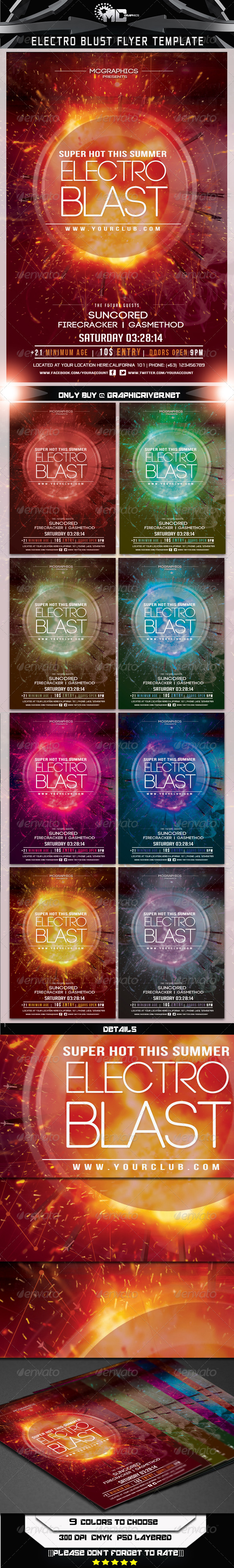 GraphicRiver Electro Blast Flyer Template 6984500