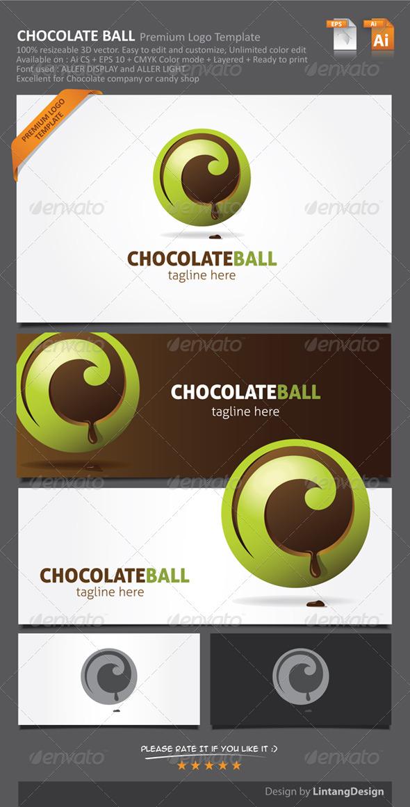 GraphicRiver 3D Chocolate Ball Logo-001 6831923