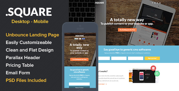 DotSquare App Landing Page - Unbounce Landing Pages Marketing