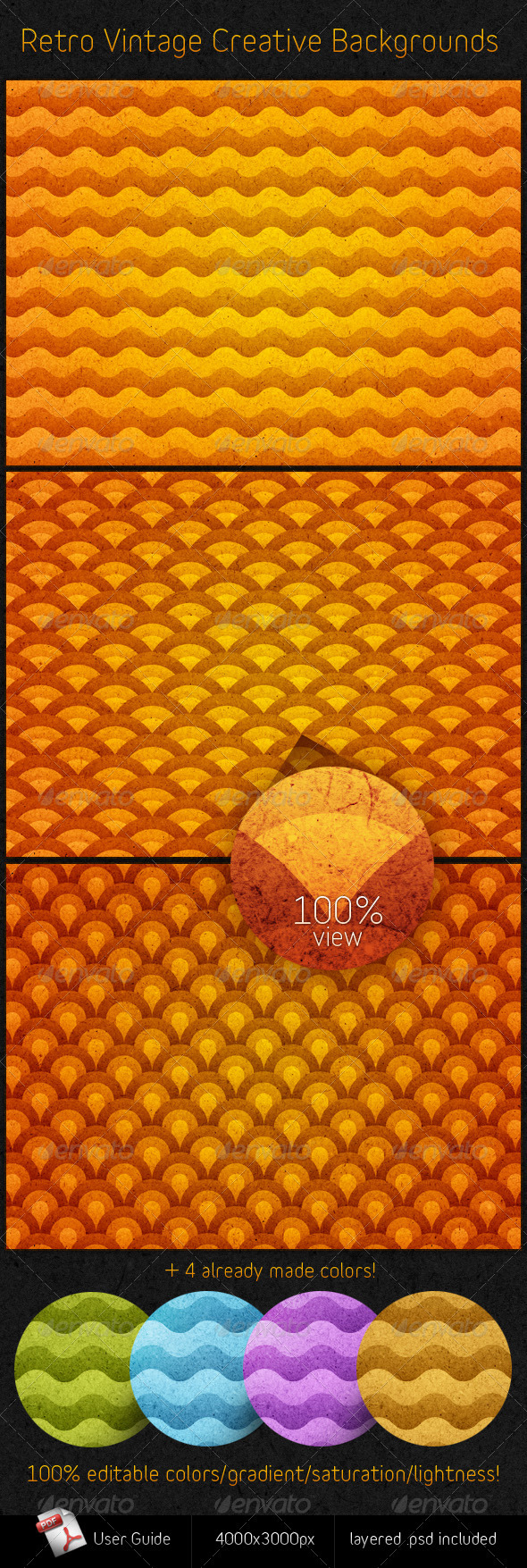 GraphicRiver Retro Vintage Creative Backgrounds 731684