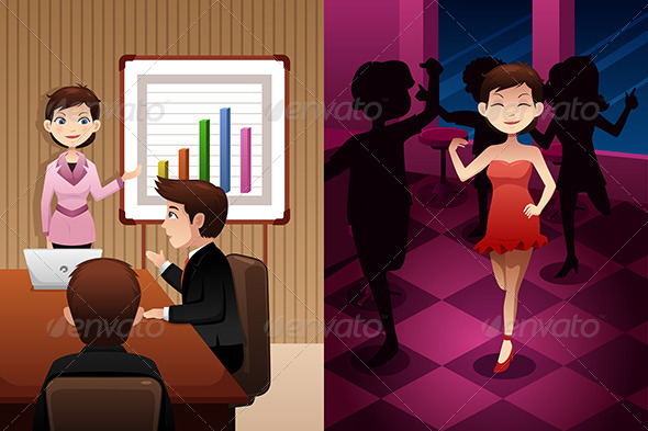 GraphicRiver Day in the Life of a Modern Woman 6984704
