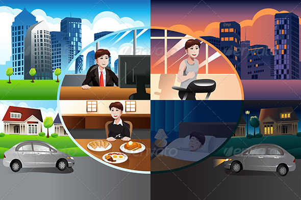 GraphicRiver Day in Life of a Modern Man 6984710