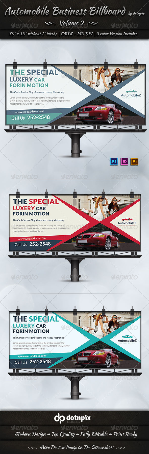 Automobile Business Billboard | Volume 2 - Signage Print Templates