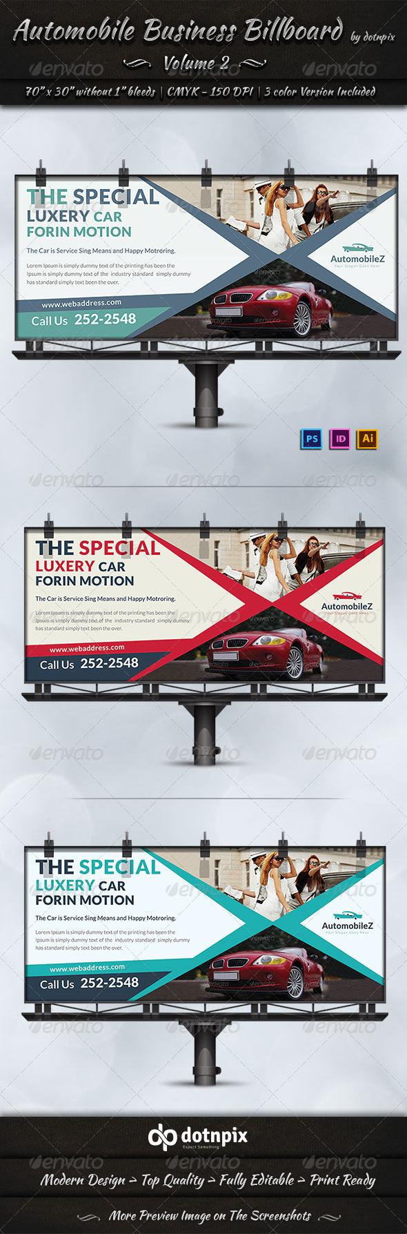 Automobile Business Billboard | Volume 2 - Signage Print Templates