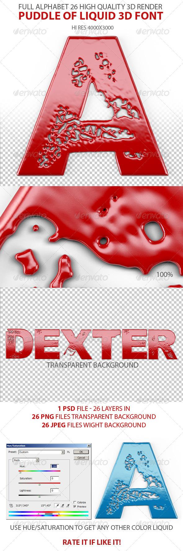 GraphicRiver Liquid 3D Font 6984895